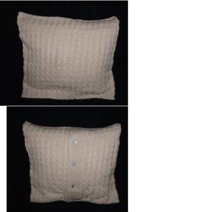 NIP Sofia 100% cashmere  pillow cover knit oatmeal